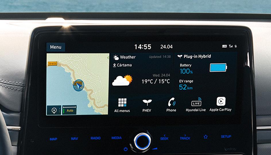Navigation-systeem Hyundai Ioniq